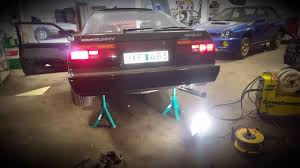 nissan sunny 1988 modified nissan sunny b12 coupé modified exhaust straight pipes youtube