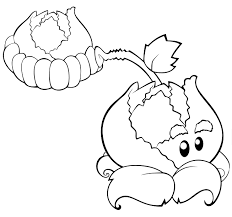 plants vs zombies coloring pages cabbage pult free for kids free