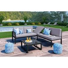 canape jardin aluminium salon de jardin loungitude achat vente salon de jardin