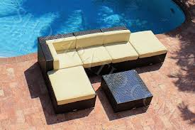Outdoor Patio Furniture Sectional 6 Modern Wicker Outdoor Patio Furniture Sectional Sofa W