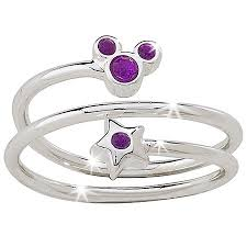 birthstone rings disney birthstone ring and mickey mouse silver