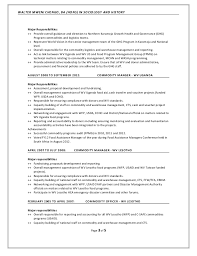 history major resume walter m chengo resume