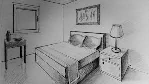 Bedroom Design Drawings How To Draw Two Point Perspective Bedroom Youtube