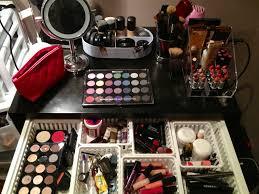 a look at my makeup organization and vanity u2013 jersey talk