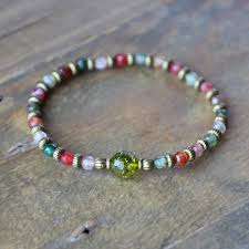 bracelet fine images Tourmaline agate and peridot fine faceted quot good luck quot bracelet jpg