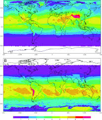 changes in biologically active ultraviolet radiation reaching the