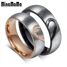 promise rings for men new matching heart stainless steel wedding rings for men