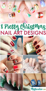 8 pretty nail art designs for christmas tip junkie