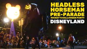 headless horseman pre parade at mickey u0027s halloween party 2016
