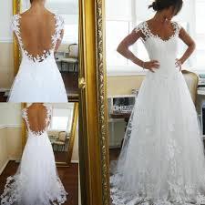 2015 vintage sheer a line wedding dresses cheap for garden beach