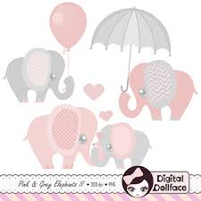 pink and grey elephant baby shower pink and grey elephant clip elephant baby shower