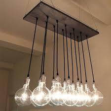 Hanging Bulb Chandelier Impressive Edison Bulb Chandelier On Interior Decor Home With