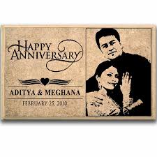 wooden personalized gifts stylish happy anniversary personalised plaque at best prices in