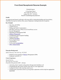Resume Job Responsibilities Examples by Resume Examples For Medical Office Receptionist Medical Office