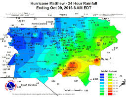 North America Precipitation Map by Nc Rainfall Totals By County And Town From Hurricane Matthew Wncn