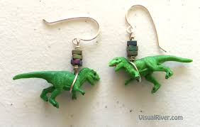 dinosaur earrings visualriver handcrafted products and other artwork