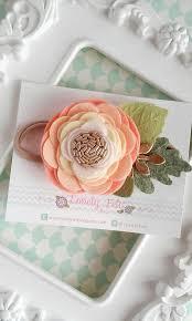 felt flower headband felt flower headband single ombre от lovelyfeltshop