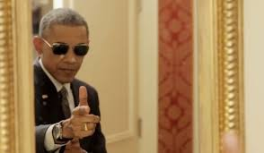 Obama Sunglasses Meme - obama makes faces takes selfies and goofs off in buzzfeed video