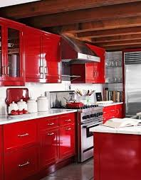 Lacquered Kitchen Cabinets - Red lacquer kitchen cabinets