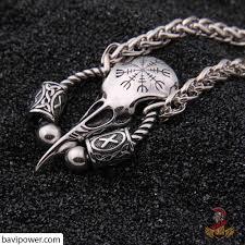 skull pendant necklace images Runic raven skull pendant necklace bavipower jpg