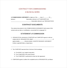 commission contract template agent contract 32 basic contract