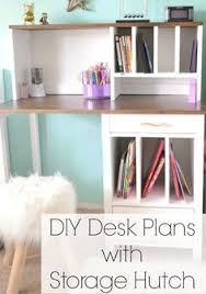 Diy Desk Plans Free by Diy Desk Hutch With Free Plans From Ana White Desk Hutch Ana