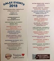 galax 2018 event schedule new river trail cabins
