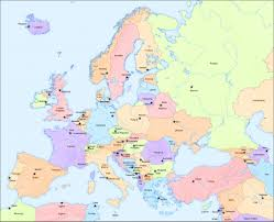 Southcenter Mall Map Big Map Of Europe And Capital Cities Travel Europe Pinterest