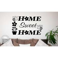 home sweet home wall art sticker quote vinyl decor decal with