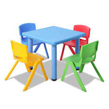 childrens plastic table and chairs children s plastic chairs and tables ebay