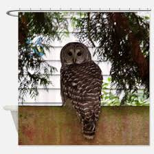 Owl Fabric Shower Curtain Barred Owl Shower Curtains Barred Owl Fabric Shower Curtain Liner