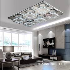 Cheap Kitchen Light Fixtures by 2017 Square Led Crystal Light Ceiling Lighting Fixture Surface