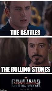 Rolling Stones Meme - marvel classic rock war imgflip