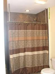 Curtain Ceiling Mount Shower Curtain Track Ceiling Mounted Shower Curtain Rods