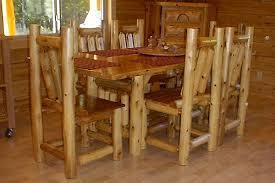Log Dining Room Table Rectangular Cedar Log Dining Table Log Dining Room Furniture