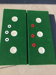 3 hole washer game fat penny or chubby lincolns for the golf fan