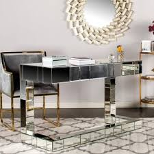 Mirrored Desks Furniture Hayworth Mirrored Desk Wayfair