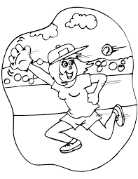 softball coloring pages for girls coloring home