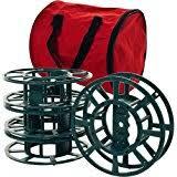 wrap n roll christmas light storage amazon com santa s bags install n store light storage reels home