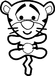 winnie the pooh chibi coloring page wecoloringpage