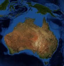 australia satellite map maps