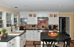 Coastal Style Kitchen In Traditional White  Columbia MD - Custom kitchen cabinets maryland
