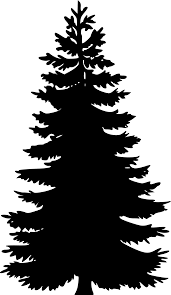 free christmas tree clipart red silhouette clipground