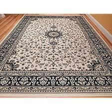 ivory rugs large 8x11 ivory traditional style rug