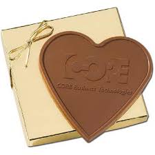 heart shaped chocolate 3 4oz heart shaped custom chocolate bar in gold gift box goimprints