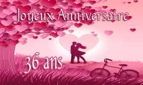36 ans de mariage carte anniversaire mariage 36 ans virtuelle gratuite à imprimer