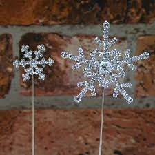 Christmas Cake Decorations Snowflakes by Diamante Snowflake Cake Topper Christmas Cake Decoration The