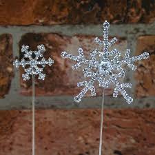 snowflake cake topper diamante snowflake cake topper christmas cake decoration the