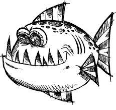 poisonous monster fish coloring pages color luna
