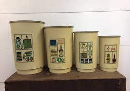 country kitchen canister sets mid century canister set set of 4 1960s vintage kitchen